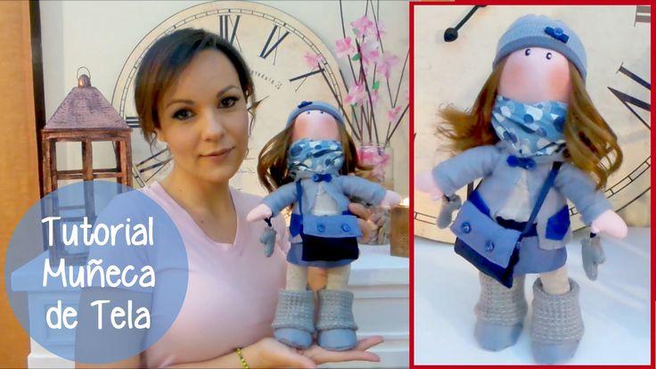 Tutorial para hacer una muñeca de tela y SORTEO, manualidades faciles pa...