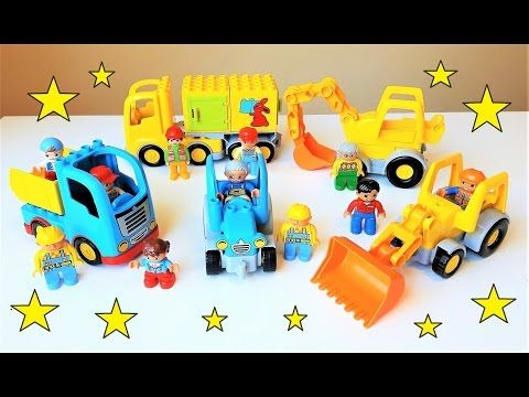 Lego Duplo tractors and trucks showroom! Video for kids.