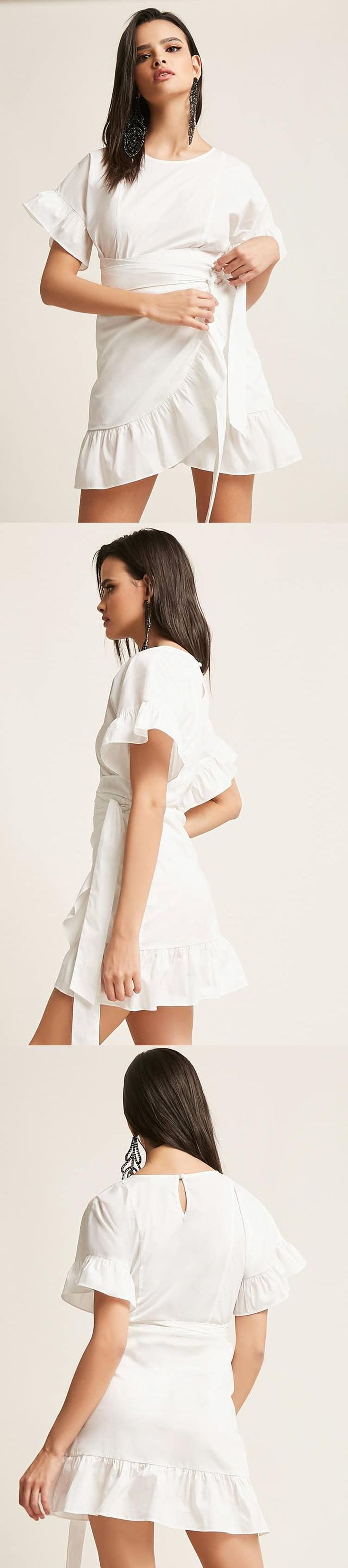 Ruffle Wrap-Front Dress // 38.00 USD // Forever 21