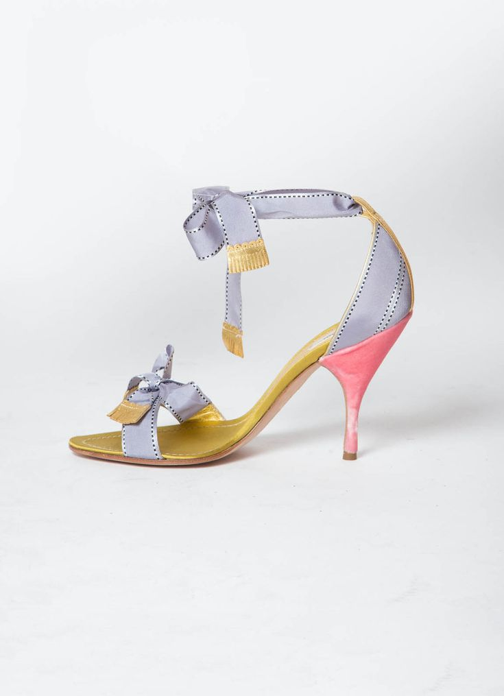 Prada Ribbon Sandals