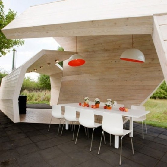 Modern Terrace And Outdoor Dining Space