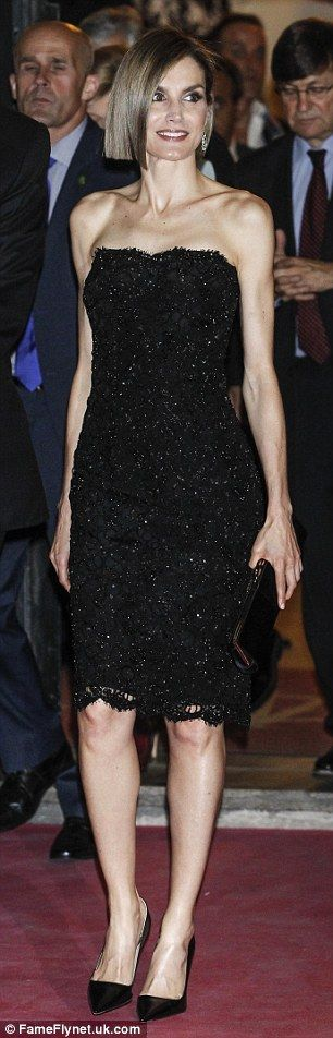Glitzy: The event, which was held at Madrid Casino, attracted some of Spain's biggest names } April 2015