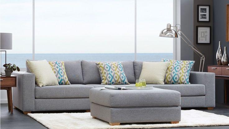 Casper 3 Piece Fabric Lounge - Lounges - Living Room - Furniture, Outdoor & BBQs | Harvey Norman Australia