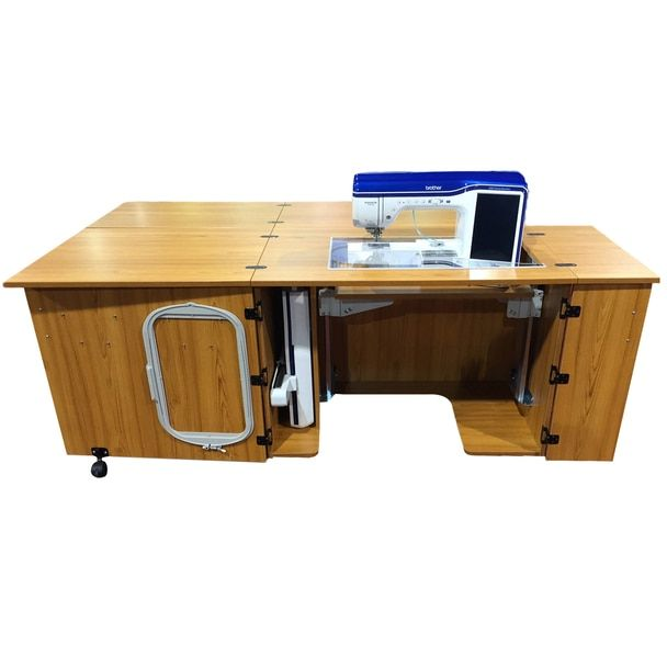 Sylvia 2400q Super Large Opening Cabinet With Quilt Leaf Sewing Cabinet Sewing Machine Cabinet Sewing Furniture
