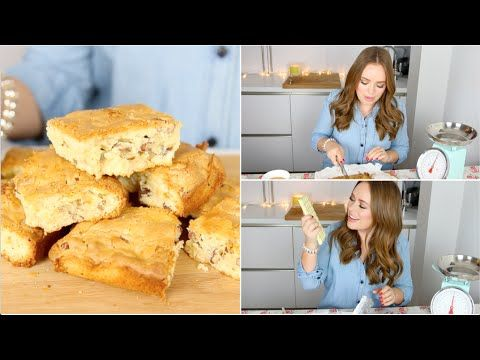 Baking Blondies! (White Chocolate Brownies) | Tanya Burr - YouTube
