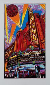 GOV'T MULE - JOHN SCOFIELD - AJ MASTHAY - 2015 - FOX THEATER - OAKLAND
