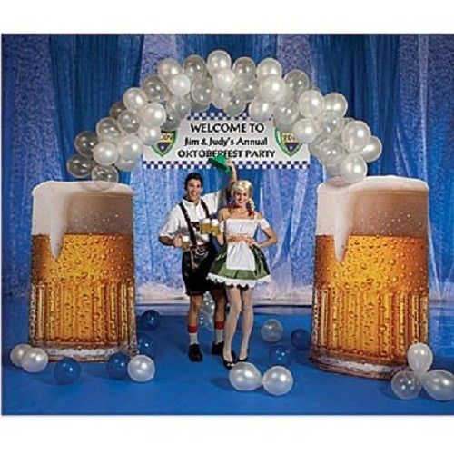 Beer Themed Towels: BEER BALLOON ARCH * German * Oktoberfest Party Decorations