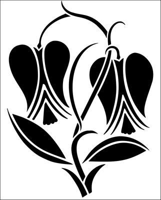 Motif No 87 stencil from The Stencil Library ART DECO range. Buy stencils online. Stencil code DE338.