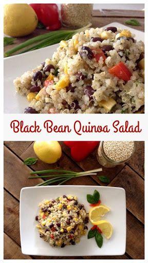 Black Bean Quinoa Salad - Dinner Was Delish