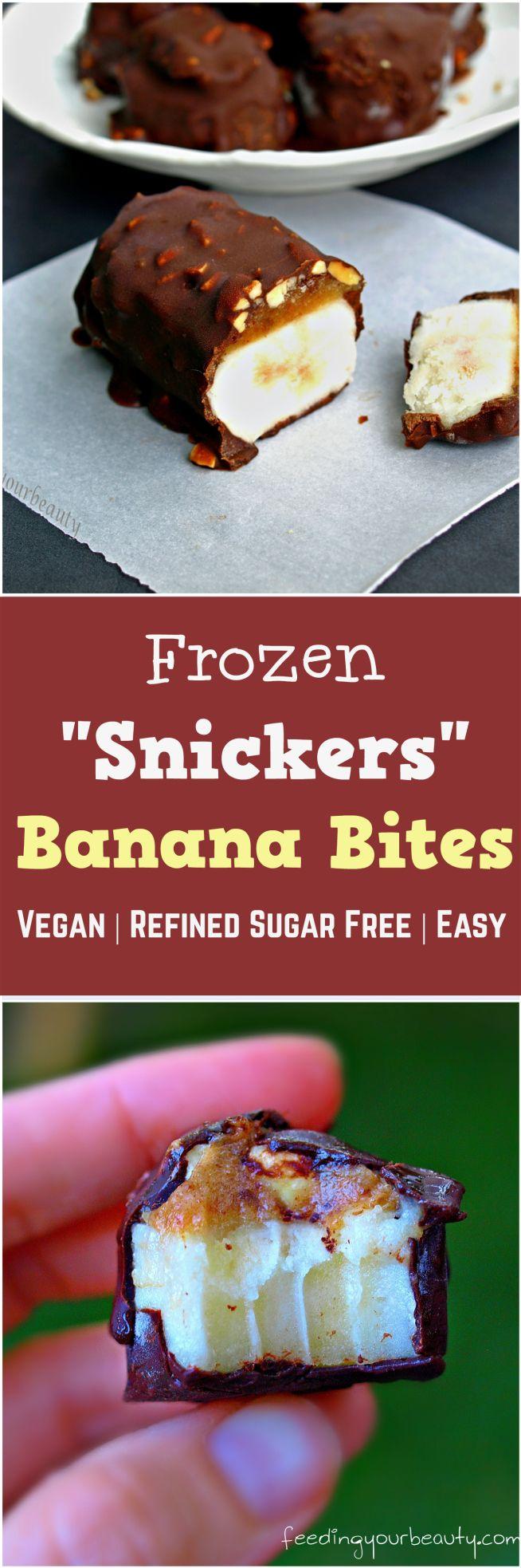 Vegan Snickers Banana Bites