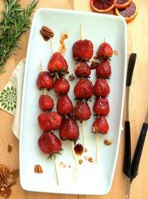 grilled balsamic & brown sugar strawberries