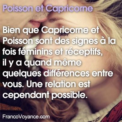 Poisson et Capricorne – Bien que Capricorne et Poisson sont des signes à la fois féminins et réceptifs, il y a quand même quelques différences entre vous. Une relation est cependant possible.
