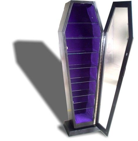 I would not use this but it would be great to display trophies in. Coffin Display Cabinet