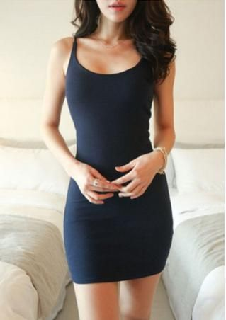 New Fashion Womens Sexy Tight Stright Short O-Neck Sleeveless Dress Braces Skirt #bodycondresscasual