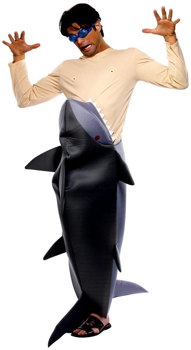 Costume di carnevale e Travestimenti, Uomo mangiato da Squalo. TG.Unica. Costume intero completo di occhialini. Disponibile da C&C Creations Store