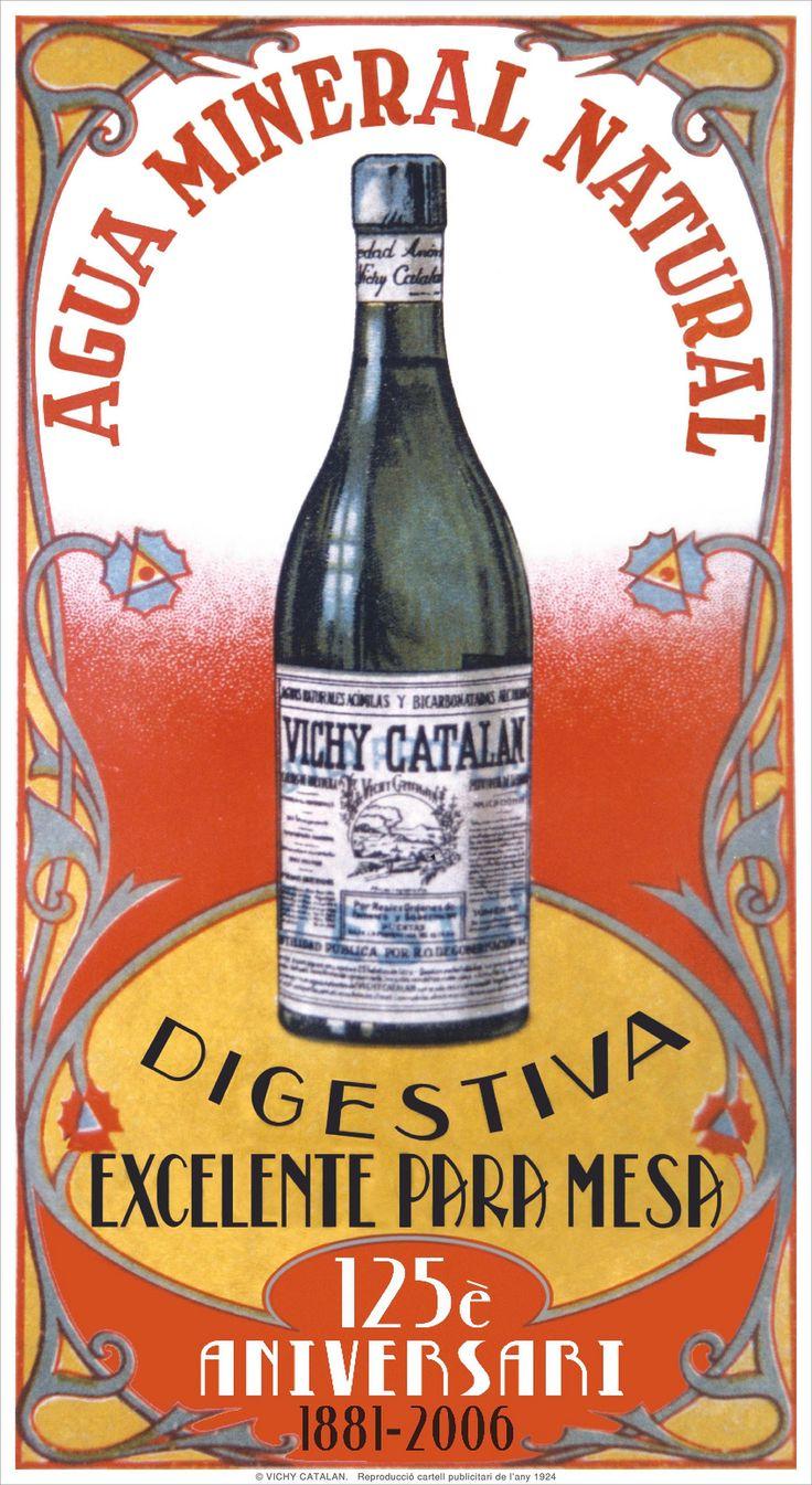 https://flic.kr/p/EKi4cv | 2007 Cartell 125è Aniversari Vichy Catalán Digestiva Excelente para mesa - català