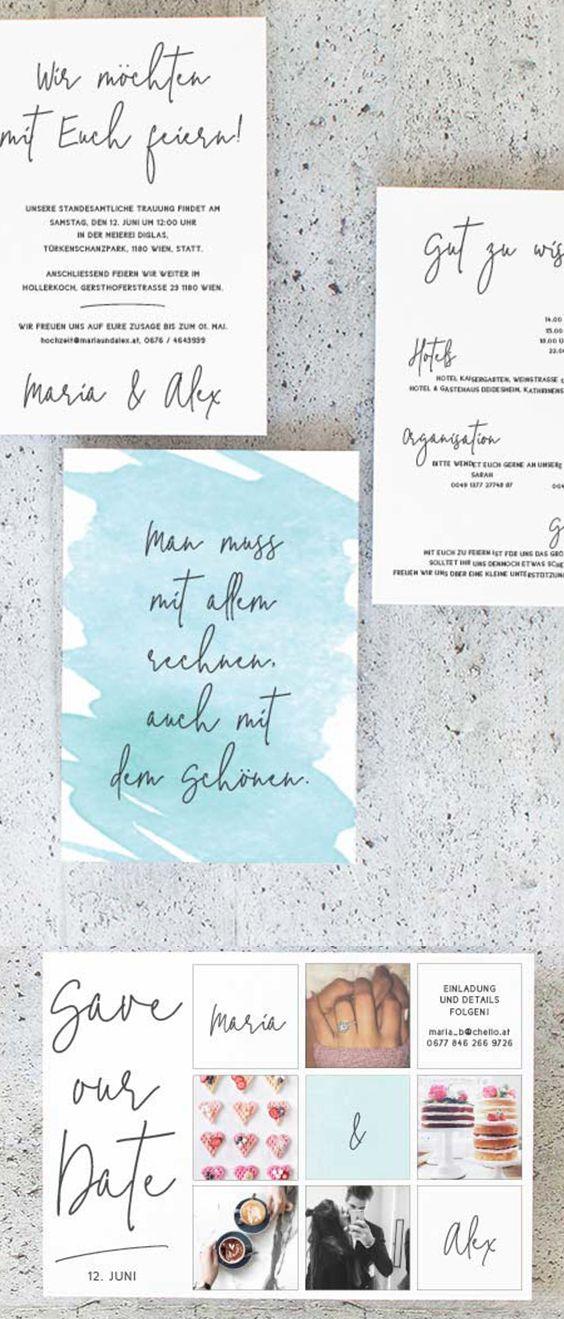 Hochzeitskarten Hochzeitseinladungen Watercolour Ausgefallen
