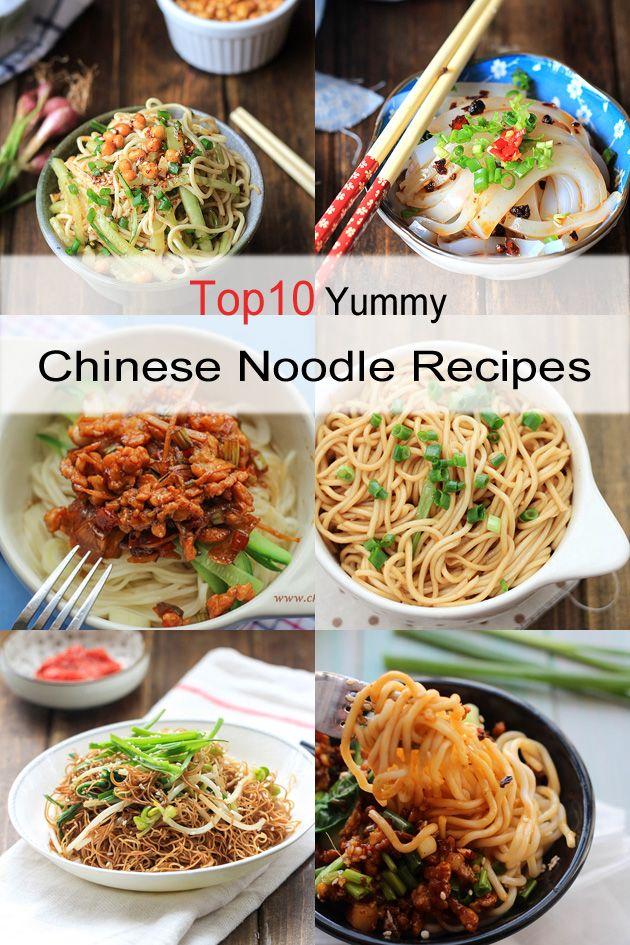 10 Ricette noodle cinesi