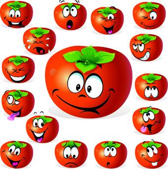 free pictures fun vegan produce | Cartoon Funny Fruit vector 01 - Vector Food free download