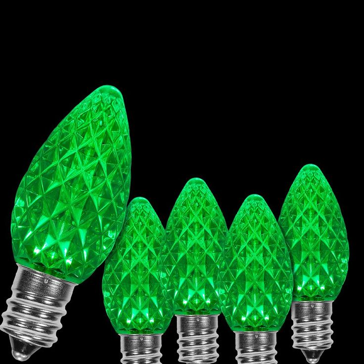 Wintergreen Lighting OptiCore C7 LED Green Faceted