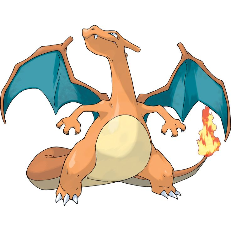 Charizard - 006 - When expelling a blast of superhot fire, the red flame at the tip of its tail burns more intensely. Its wings can carry this pokemon close to an altitude of 4,600 feet. It blows out fire at very high temperatures.  @PokeMasters.net