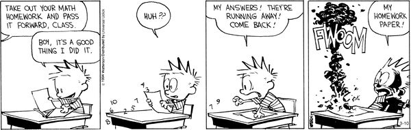 Calvin and hods comic strip
