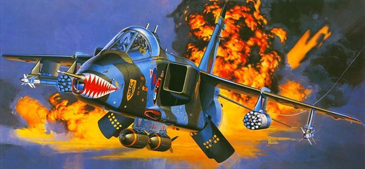 Jaguar grmk1a de la royal air force en un ataque