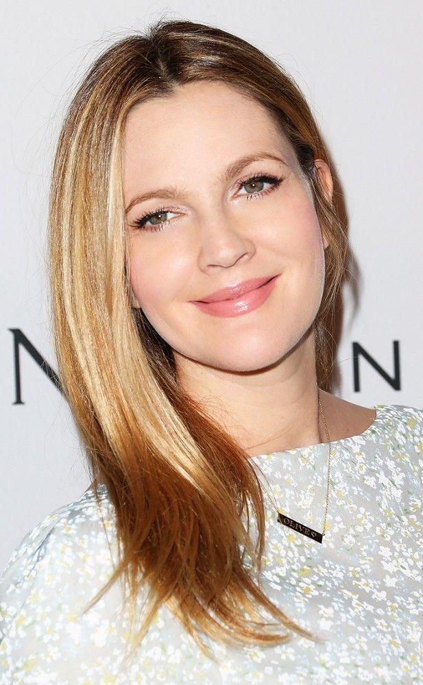 Now: Drew Barrymore via @byrdiebeauty // she's elegant looking here