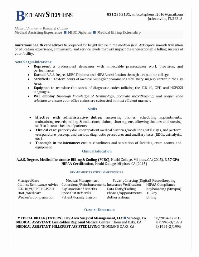 Billing And Coding Resume Awesome Bethany Stephens Medical Insurance Billing Coding Resume Medical Coder Resume Medical Billing And Coding Billing And Coding