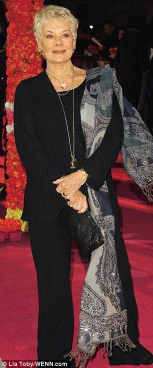 Judi Dench always dresses gracefully                                                                                                                                                                                 More