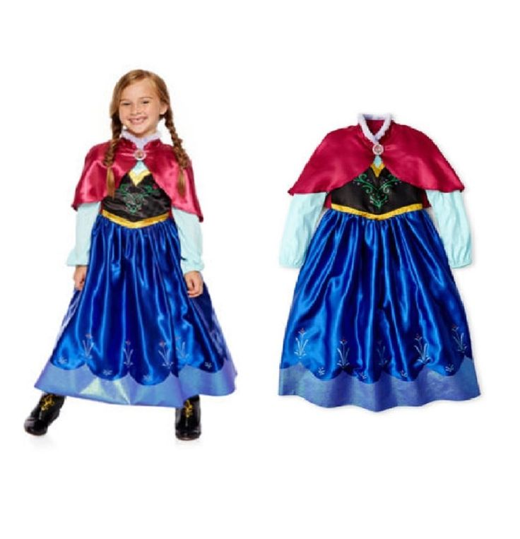 "Kids New Party Halloween Cute Girls Costume Elsa & Anna Frozen Classic Princess  Grab this stunning Anna costume for your lovely girl, she will surely sing ""Let It Go"" while trick or treating this halloween and she'll also want to build a snowman and so much more when she's dressed up like Anna from Frozen."