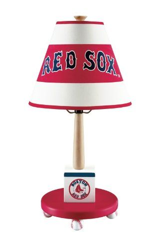 Guidecraft Boston Red Sox Children's Table Lamp - Click image twice for more info - See a larger selection of kids table lamps at http://tablelampgallery.com/product-category/kids-table-lamps/ - home, home decor, home ideas, desk lamp , gift ideas, lightning, lamp, kids lamp