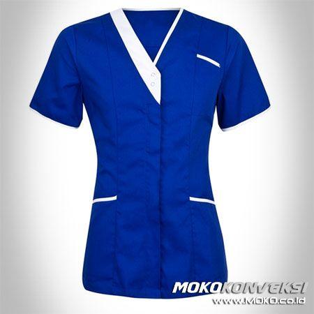 SERAGAM PERAWAT, MEDIS & PAKAIAN RUMAH SAKIT. Model Baju Kerja Perawat Rumah Sakit Warna Biru & Putih.
