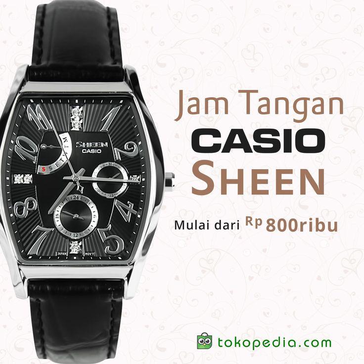 Beragam model jam tangan Casio Sheen yang cantik dan elegan ini bisa kalian dapatkan di Tokopedia. Model keren dengan harga yang terjangkau di kelasnya.  Mulai dari Rp 800.000,- (harga bervarisi), kamu bisa mendapatkan Jam Casio Sheen yang cantik ini. Yuk beli di https://www.tokopedia.com/hot/jam-tangan-casio-sheen