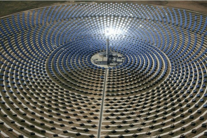 Concentrated solar power plant Spain