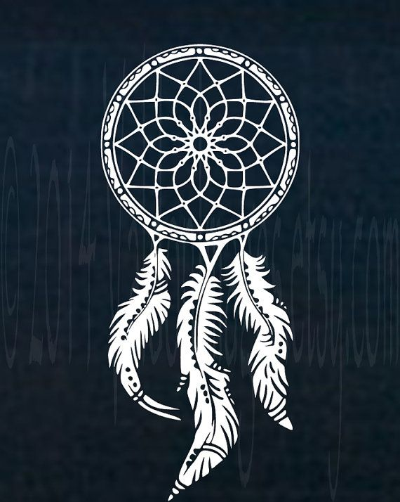 Boho style dream catcher car decal car sticker by ValdonImages