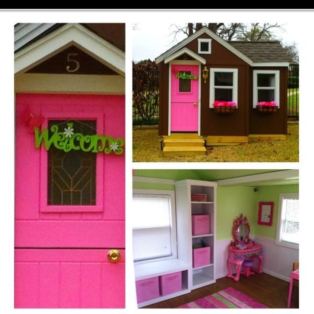 Luv The Window Box W/cubbies, Pink Door U0026 Welcome Sign On The Door