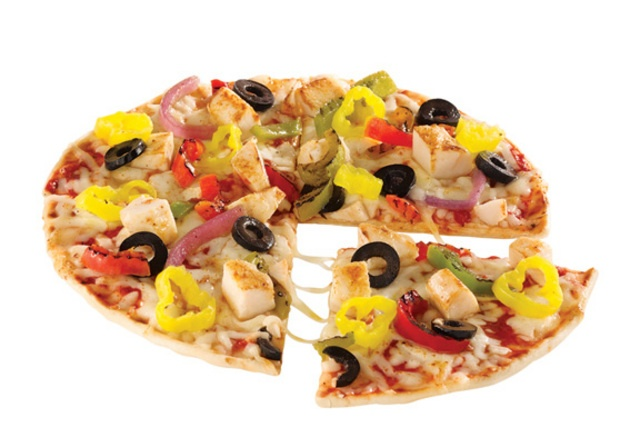 Flatbread Pizza  500 calories or less   Had this at fazoli s and it