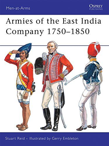 Armies of the East India Company 1750-1850 by Stuart Reid https://www.amazon.ca/dp/1846034604/ref=cm_sw_r_pi_dp_T6J9wbP3R716J