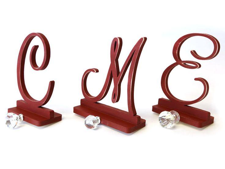 How to Make Monogram Stocking Holders | Monogram Stocking Holders | CraftCuts.com | CraftCuts.com