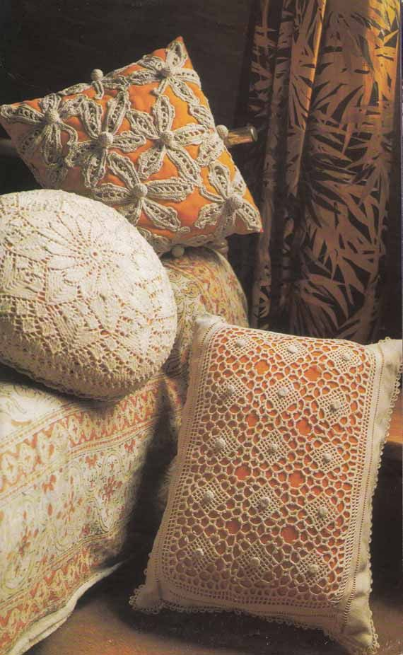 Vintage 1970s Knit & Crochet Pattern -LACE CUSHION COVERS, Boho Shabby Chic, Instant Download Pdf from GrannyTakesATrip 0145 on Etsy, $3.42 AUD