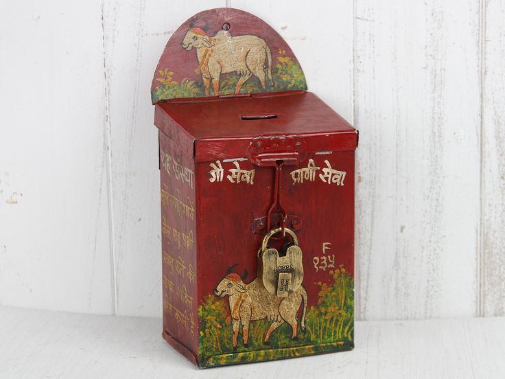 Money Box from Scaramanga's vintage furniture and interior collection. #moneybox #savings #saver #thrifty #painted #gift #fathersday #scaramanga