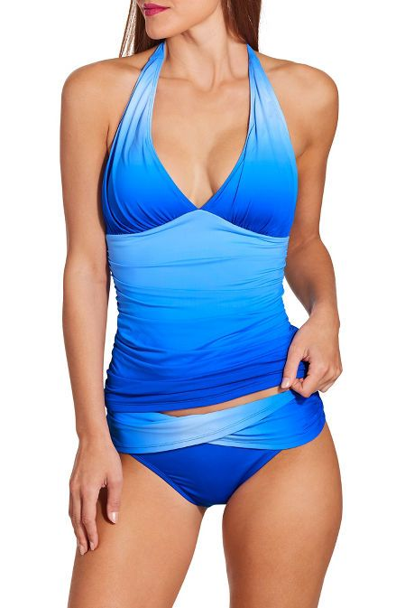 bfcc9b69e4c94 Ombré Halter Tankini in 2019 | HB - Come with Me :-) (grounded grandeur,  fun, sophisticated) | Tankini, Swimsuits, One piece swimsuit