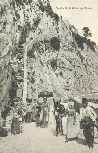 Capri, Scala Antica per Anacapri, Edit. Domenico Trampetti - Napoli