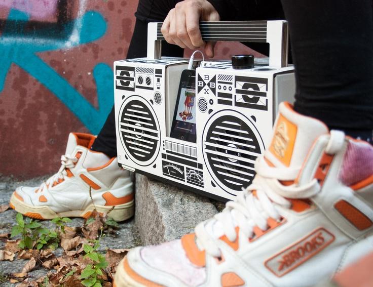 Cardboard Berlin Boombox Boombox, Diy boombox, Converse