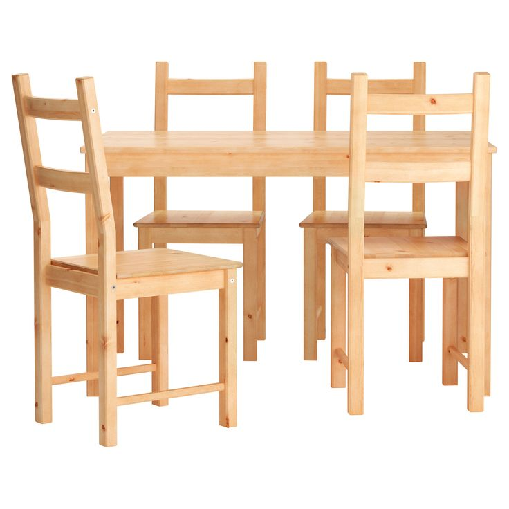 IKEA INGO/IVAR table and 4 chairs Solid pine; a natural material that ages beautifully.