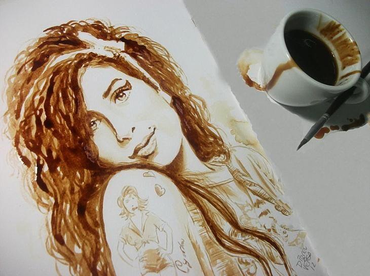 Рисунок с кофем