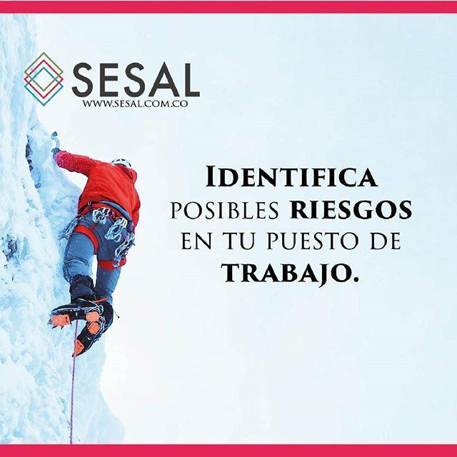 Identifica posibles riesgos en tu puesto de trabajo. #sesal #marketing #venezuela #colombia #españa #venezolanosencolombia #marketing #marketingdigital #creamostuempresa #emprende #ssl#salud #empresas #sisepuede