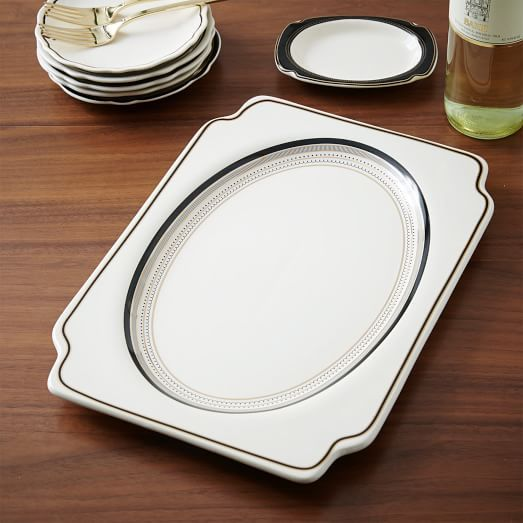 Fishs Eddy Gilded Serving Platter