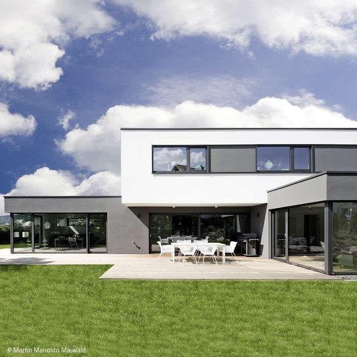 Neubau Einfamilienhaus Flachdach: Holzbauweise Und Niedrigenergiehaus Unter Einem Modernen
